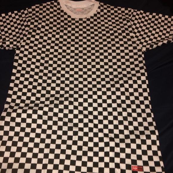 5e5fe0990081 Supreme Tops   Checkered Shirt   Poshmark